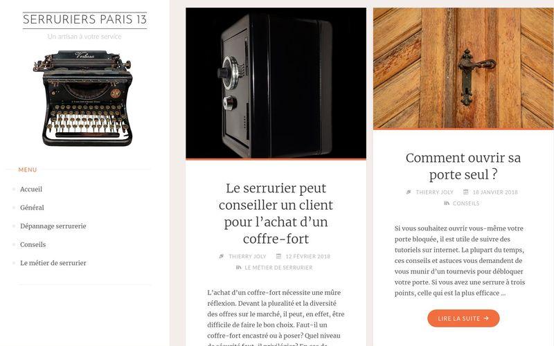Serruriers Paris 13 - Un artisan à votre service