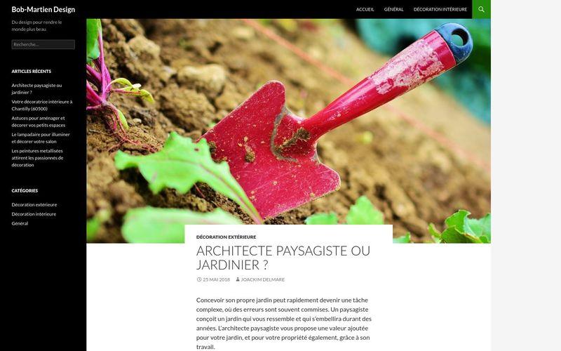 Architecte paysagiste ou jardinier ? | Bob-Martien Design
