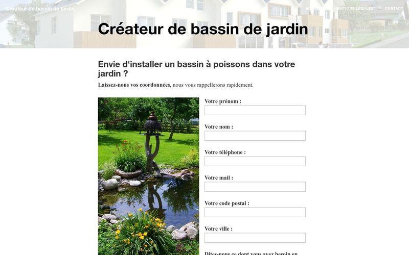 Créateur de bassin de jardin