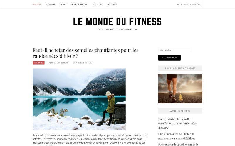 Le monde du fitness - Sport, bien-être et alimentation