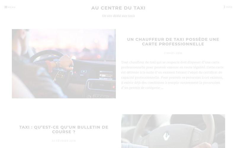 Au centre du taxi - Un site dédié aux taxis