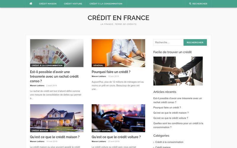 Crédit en France - La France, terre de crédits