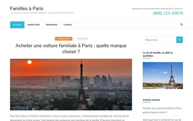 Familles à Paris - Le site pour savoir comment organiser votre vie de famille à Paris